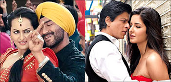 A scene from Son Of Sardaar and Jab Tak Hai Jaan