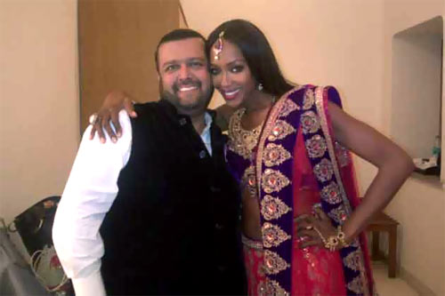 Manav Gangwani and Naomi Campbell