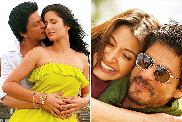 Katrina Kaif and Anushka Sharma in Jab Tak Hai Jaan