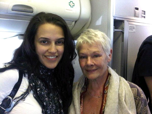 Neha Dhupia and Judi Dench
