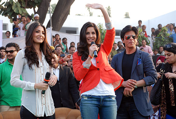 Anushka Sharma, Katrina Kaif and Shah Rukh Khan