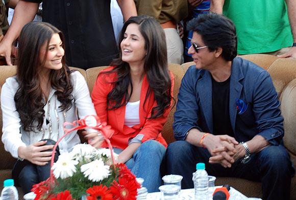 Anushka Sharma, Katrina Kaif, Shah Rukh Khan