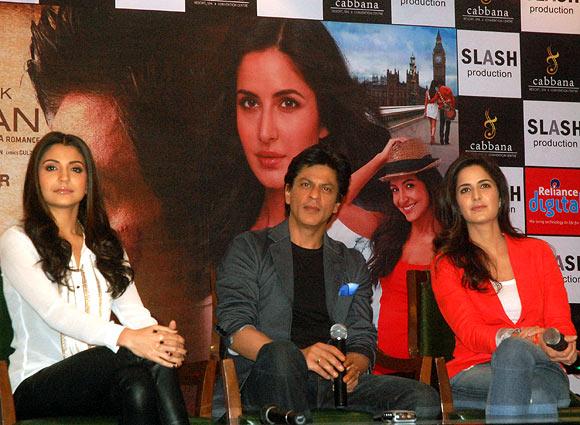 Anushka Sharma, Shah Rukh Khan, Katrina Kaif