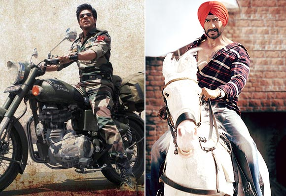A scene from Jab Tak Hai Jaan and Son of Sardaar