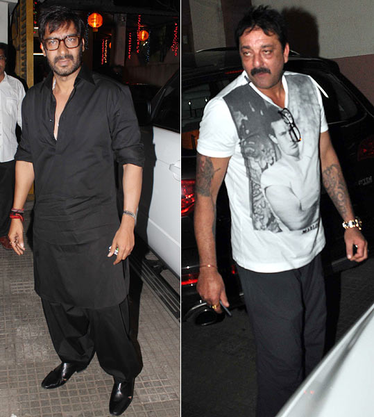 Ajay Devgn and Sanjay Dutt