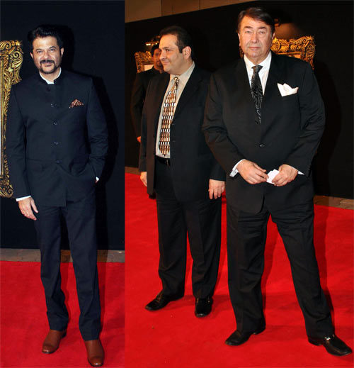 Anil Kapoor, Rajeev Kapoor and Randhir Kapoor