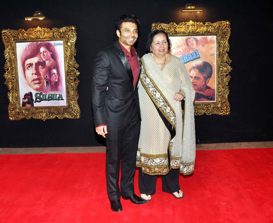 Uday Chopra with mother Pamela Chopra