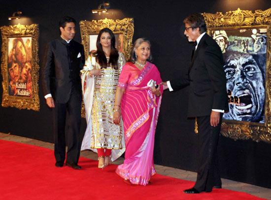 Abhishek, Aishwarya, Jaya and Amitabh Bachchan