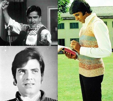 Shashi Kapoor, Jeetendra, amitabh
