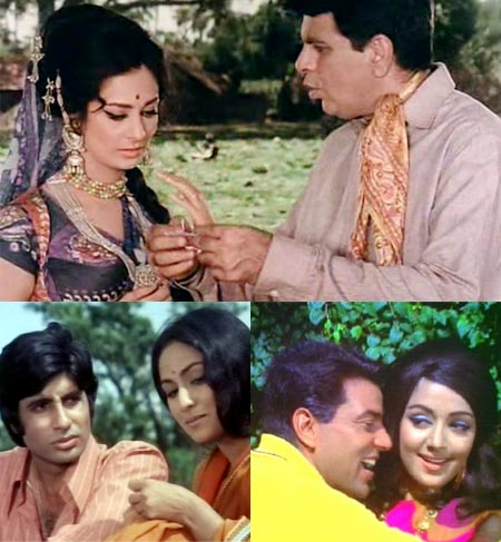 Dilip Kumar and Saira Banu, Amitabh Bachchan and Jaya Bachchan, Dharmendra and Hema Malini