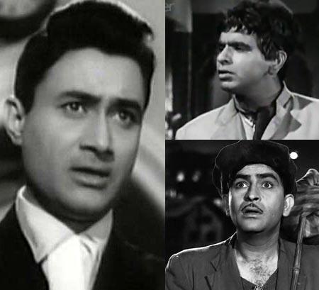 Dev Anand, Dilip Kumar, Raj Kapoor