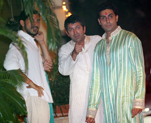 Farhan Akhtar, Kunal Kohli and Abhishek Bachchan