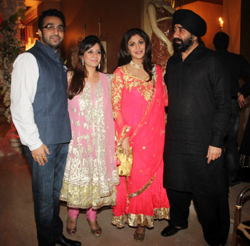 Raj Kundra, Kiran Bawa, Shilpa Shetty and GS Bawa