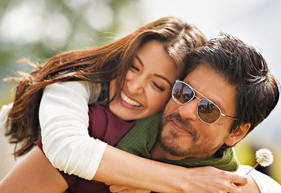 Anushka Sharma and Shah Rukh Khan in Jab Tak Hain Jaan