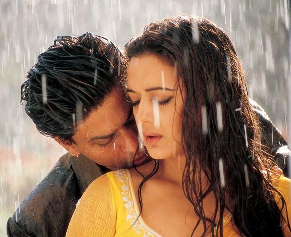 Shah Rukh Khan and Preity Zinta in Veer-Zaara