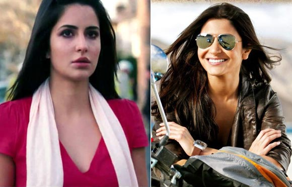 Katrina Kaif and Anushka Sharma in Jab Tak Hai Jaan