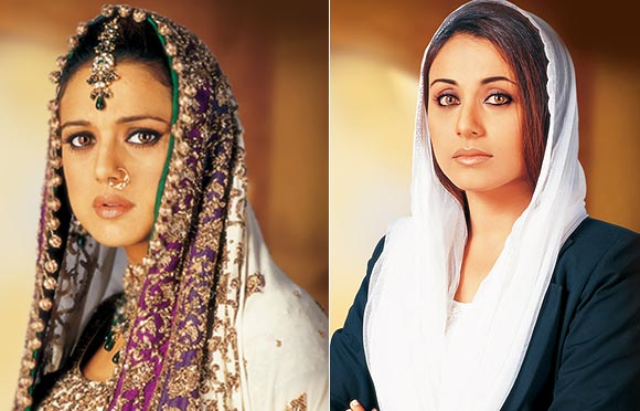 Preity Zinta and Rani Mukerji in Veer-Zaara