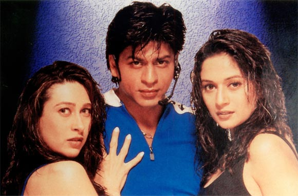 Madhuri Dixit Shah Rukh Khan and Karisma Kapoor in Dil To Pagal Hai