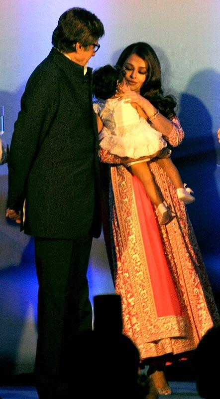 Amitabh, Aishwarya and Aaradhya Bachchan