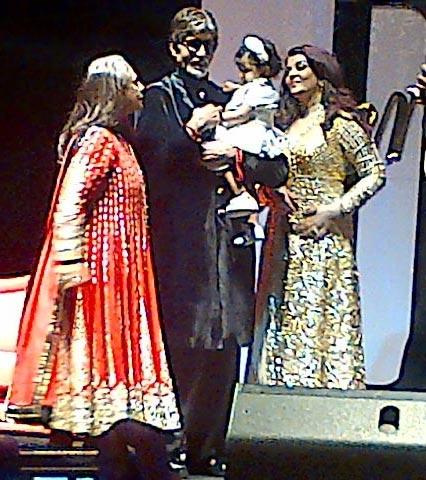 Jaya, Amitabh, Aaradhya and Aishwarya Rai Bachchan