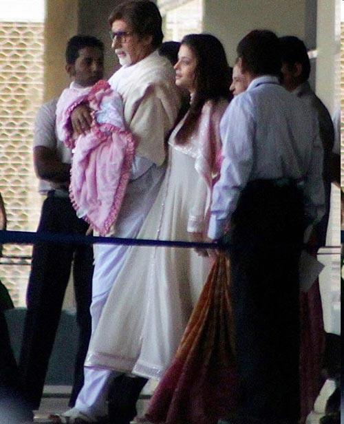 Amitabh, Aaradhya, Aishwarya Rai Bachchan and Vrinda Rai