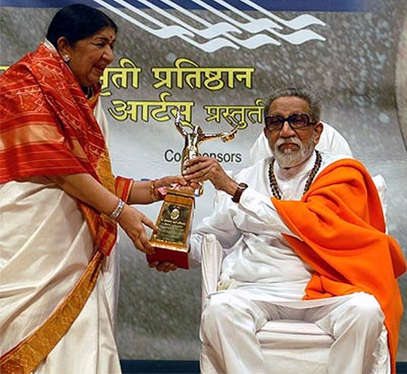 Lata Mangeshkar and Bal Thackeray