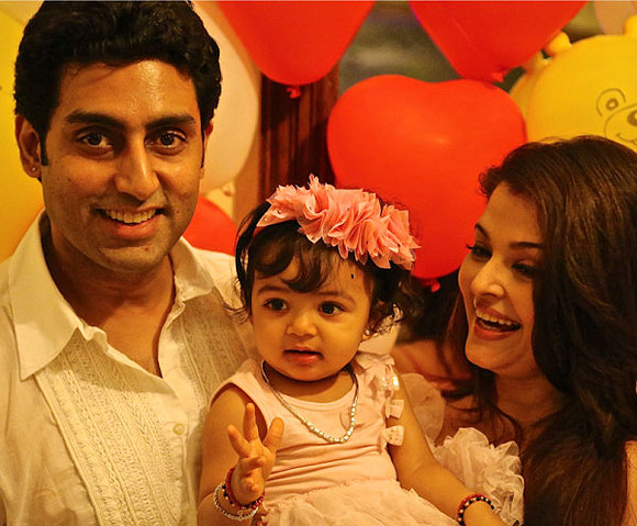 Abhishek, Aaradhya and Aishwarya Rai Bachchan
