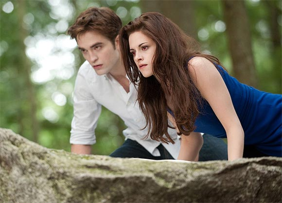 Robert Pattinson and Kristen Stewart in The Twilight Saga: Breaking Dawn 2