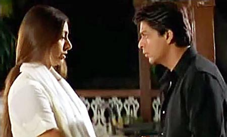 Tabu and Shah Rukh Khan in Saathiya (2002)