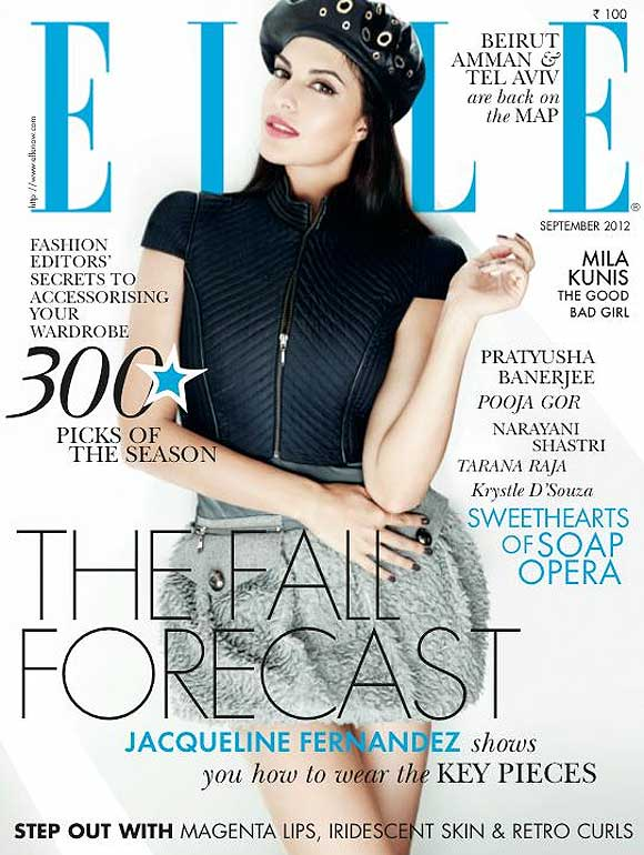 Jacqueline Fernandez on Elle magazine