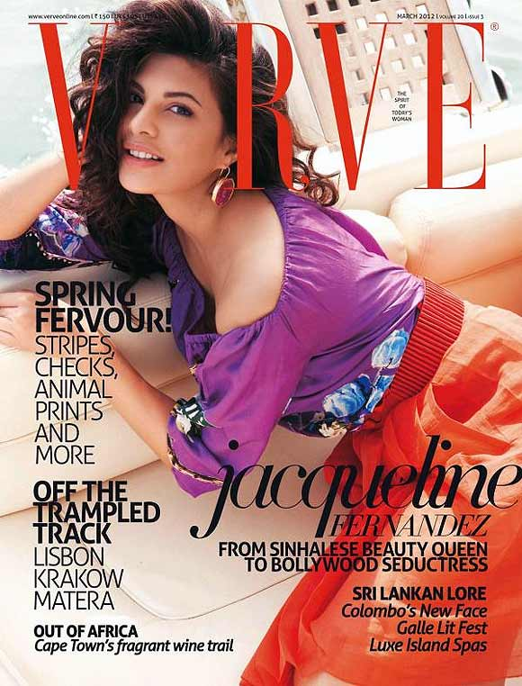 Jacqueline Fernandez on the cover of Verve magazine