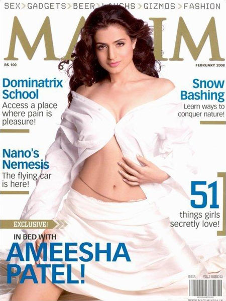 Ameesha Patel on the cover of Maxim magazine