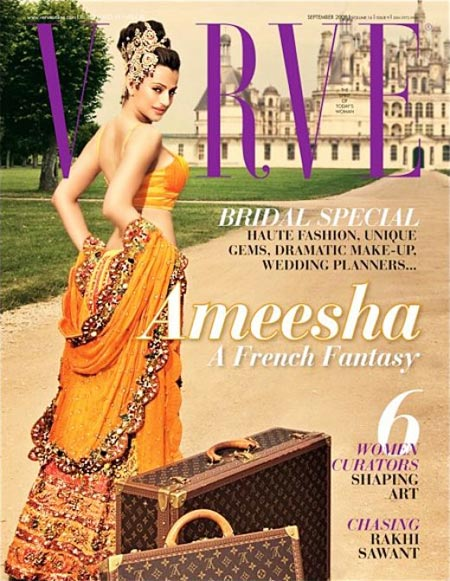 Ameesha Patel on the cover of Verve magazine
