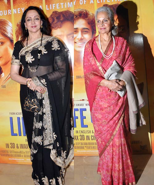 Hema Malini and Waheeda Rehman