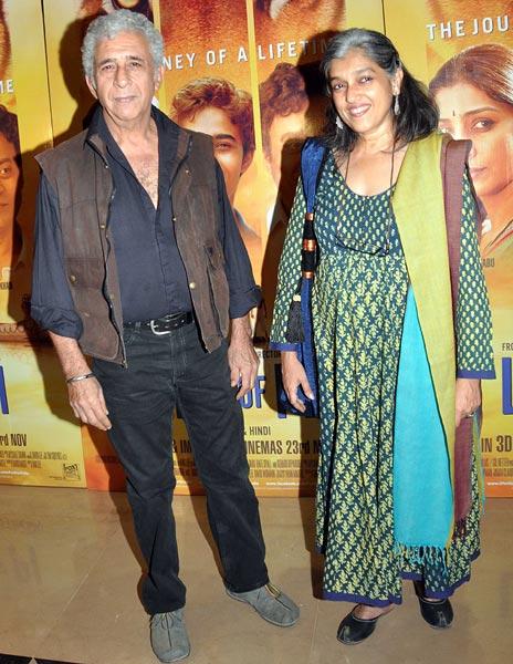 Naseeruddin and Ratna Pathak Shah