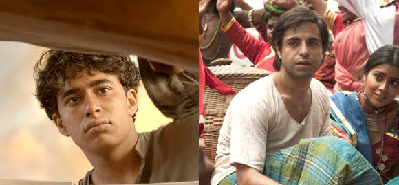 Suraj Sharma Churai in Life Of Pi, Sathya Bhaba in Midnight's Children