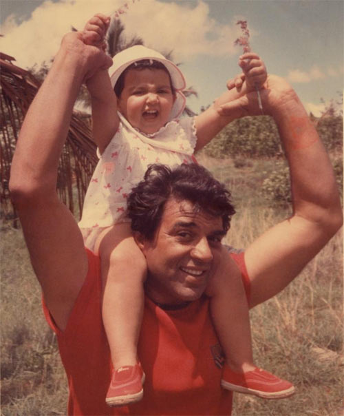 Esha Deol with Dharmendra