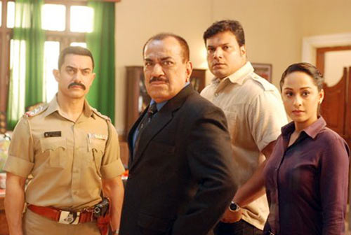 Aamir Khan, Shivaji Satam, Dayanand Shetty, Ansha Sayed