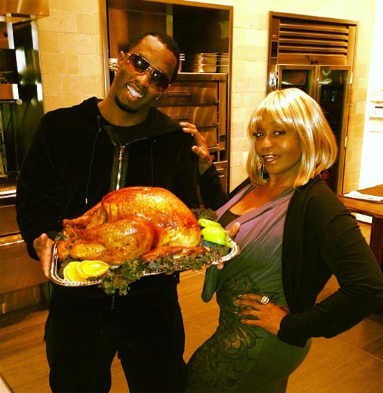 P Diddy with mother Janice