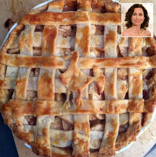 Minnie Driver's lattice pie. Inset: Minnie Driver