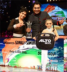 Winners Maraju Sumanth and Shonali Majumdar
