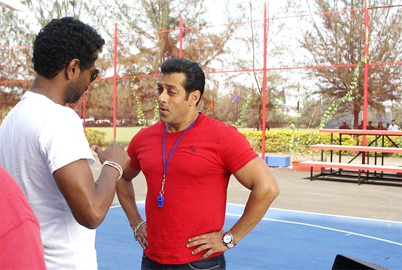 Prabhu Deva and Salman Khna