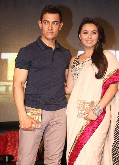 Aamir Khan and Rani Mukerji at Talaash music launch
