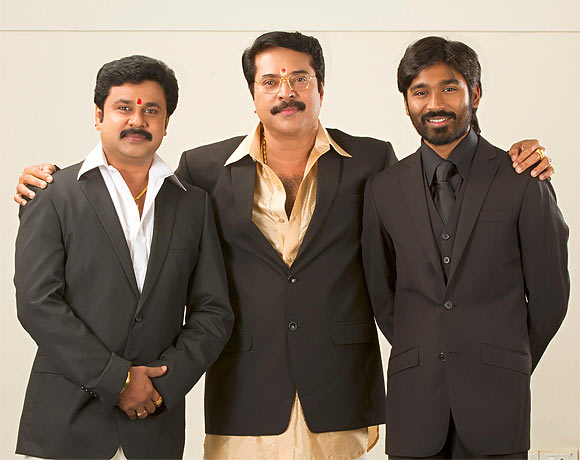 Dileep with Mammootty and Dhanush