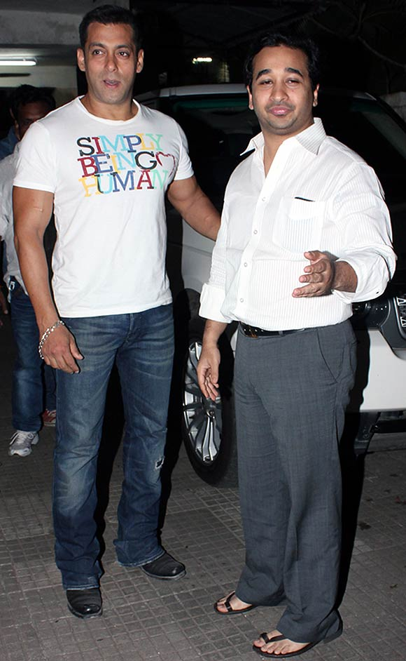 Salman Khan and Nitesh Rane