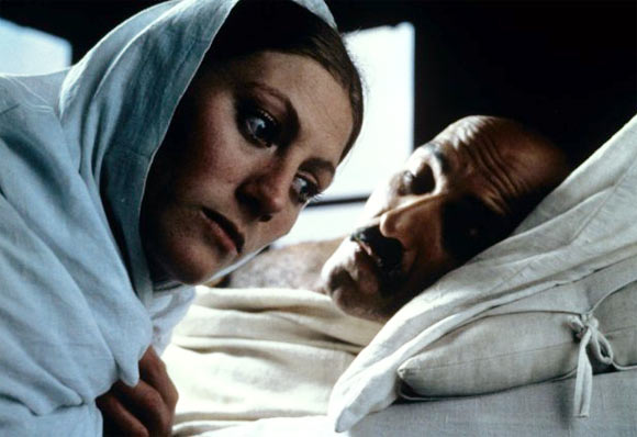 Geraldine James, the British actress,  who played Miraben, with Ben Kingsley as Mahatma Gandhi