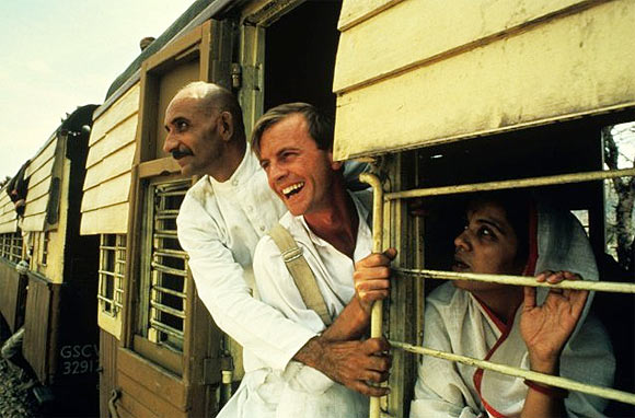 Ben Kingsley with another British actor Ian Charleson, who played the Reverend C F Andrews