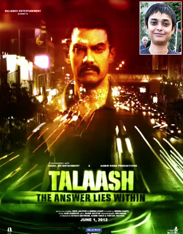 Movie poster of Talaash. Inset: Reema Kagti