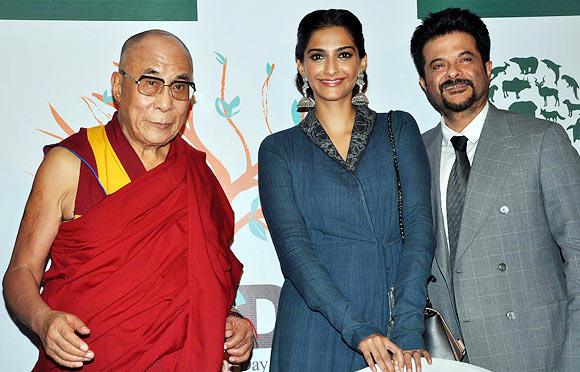 Dalai Lama, Sonam, Anil  Kapoor