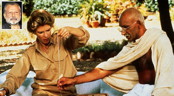Candice Bergen, who played Margaret Bourke White, the famous photographer, with Kingsley in his Mahatma avatar. Inset: Pankaj Kapur